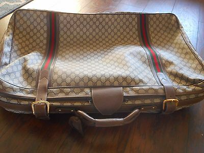 Vintage Authentic Gucci Large Signature Suitcase Pre-Owned