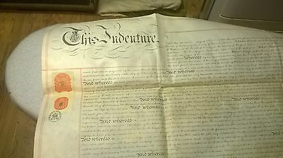 old property indenture 1882 and paper tax ephemera 1873 & 1880