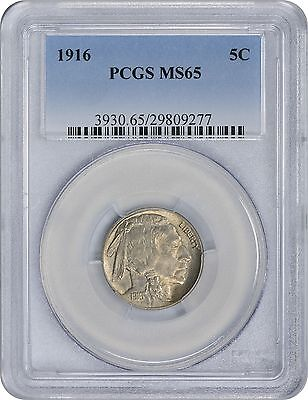 1916 Buffalo Nickel MS65 PCGS Mint State 65