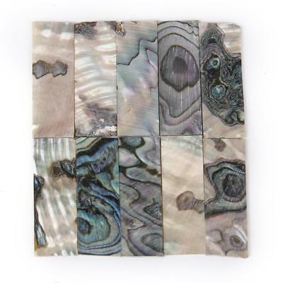 10 Inlay Material Colorful Abalone Shell Rectangle Blank For Luthier 36x12x1.0mm