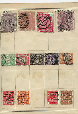 Great  Britain  high value stamps on album  page with 57 pl #2          KEL1211