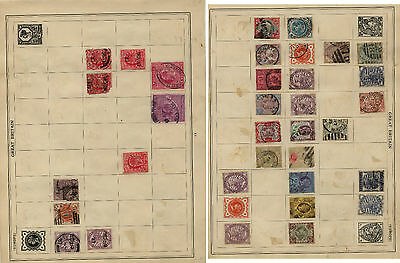 Great  Britain  early stamps on album page with #140          KEL1211