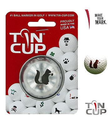 Tin Cup. Golf Ball Marker Sistema Go Nuts. Ardilla