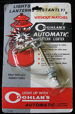 Vintage GOGHLAN'S Lantern Lighter AUTOMATIC for All Gas Lanterns Flint Starter