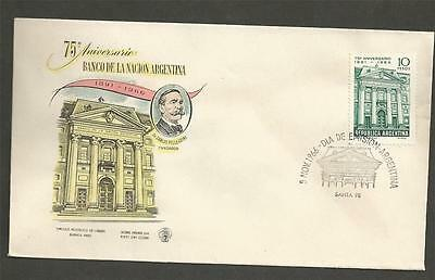 ARGENTINA - 1966 The 75th Anniversary of the Argentine National Bank - FD COVER.