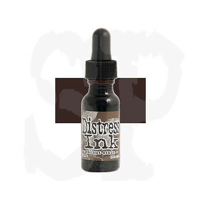 Tim Holtz Distress Ink Reinker Refill WALNUT STAIN  Brown