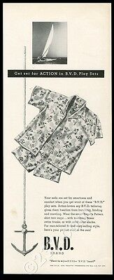 1948 BVD men's Hawaiian shirt shorts fashion vintage print ad