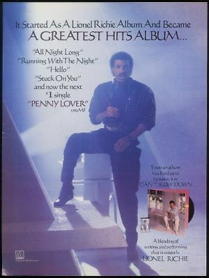 1984 Lionel Ritchie photo Penny Lover trade print ad