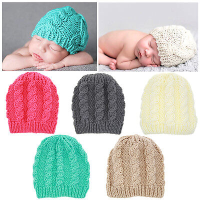 New Toddler Baby Kid Boys Girls Winter Warm Knit Beanie Hat Knitted Crochet Cap