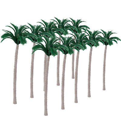 20pcs Mini Coconut Palm Trees Model Train Layout Beach Street Scenery 10CM