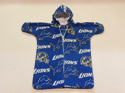 NHM NFL DETROIT LIONS PRINTED FLEECE BABY BUNTING COAT Newborn to 6 Months