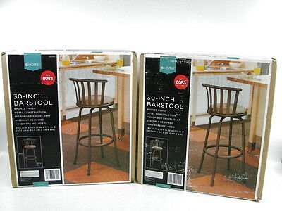 Set of 2 Olivia 30-Inch Swivel Seat Metal Bar Stools from Target Bronze Finish