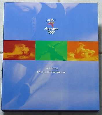 2000 Sydney Olympic Games $5 Coin Offical Album - 28 coins