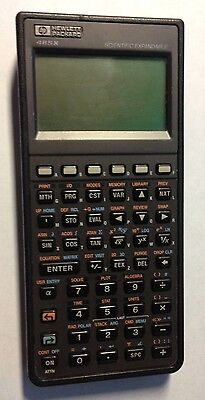 Hewlett Packard 48sx Scientific Expandable Calculator Tested 1989