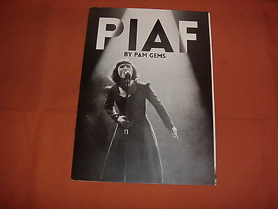 PIAF by PAM GEMS West End Theatre Programme  *NEW*