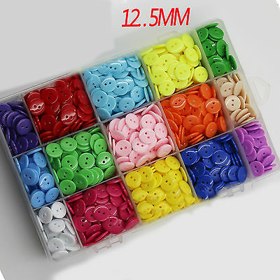 100pcs Resin Buttons Round 2-holes Candy Sewing Craft DIY Supplies 12.5mm
