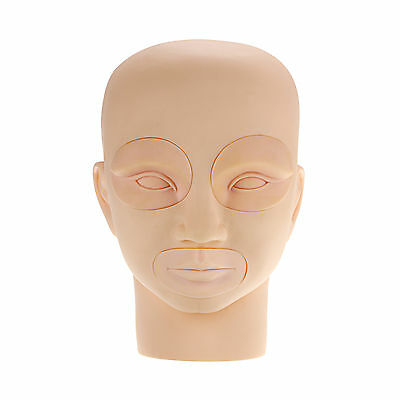 Removable Practice Flat Mannequin Training Head for Eyelash Extensions Makeup