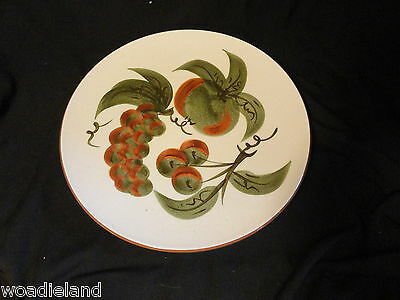 Stangl  Pottery Orchard Song Dinner Plate Fruits White Green MCM