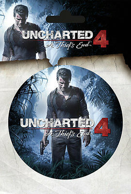 Vinyl Sticker / Aufkleber UNCHARTED 4 - A Thief´s End - Game -  9cm Rund NEU 452