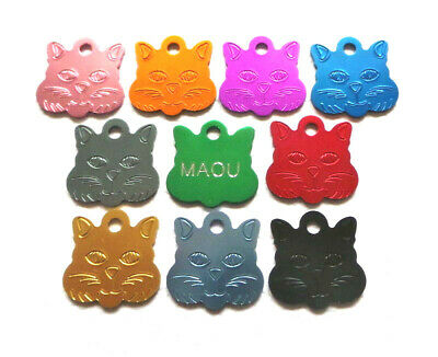 Medaille Gravee Chat Alu  10 Couleurs