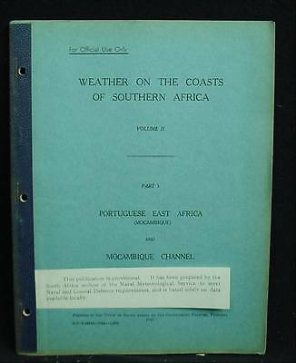 1941 Weather Coasts Southern Africa East Africa Mocambique Channel African WW2