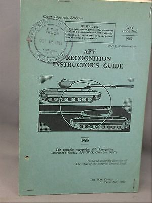 AFV Recognition Instructor's Guide 1960 Canadian Scottish Military Manual Tank
