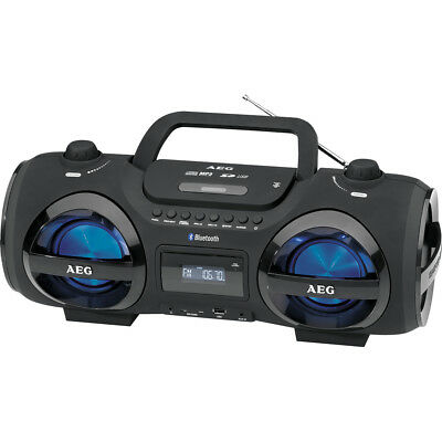 AEG Stereoradio SR 4359 schwarz CD/BT/USB/MP3/AUX Soundbox Musikanlage Bluetooth