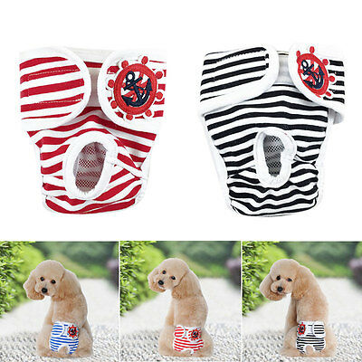 Female Male Dog Puppy Physiological Pants Diaper Sanitary Underwear Nappy Stripe