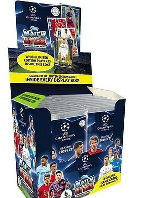 2016/2017 Topps UEFA Champions league sealed box 50 packets