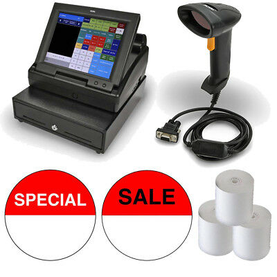 """Royal TS1200MW Touchscreen Cash Register with 12"""" LCD Screen Deluxe Bundle"""