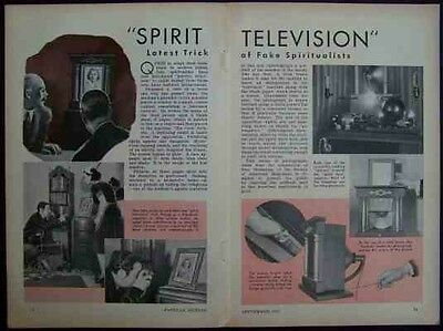 Spirit Television 1939 Fake Mediums pictorial Society of American Magicians