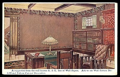 Antique Wall papers Moulton Iowa decoration advertising postcard