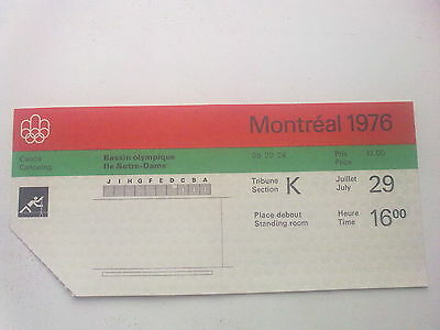 Ticket Olympic Games MONTREAL 29.07.1976 - CANOEING (16:00)