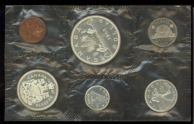 Canada 1962 Silver Prooflike Coin Set in sealed RCM sleeve