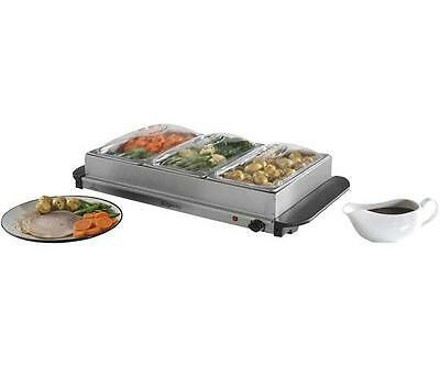 Elgento - E322N - 200w Three Tray Buffet Server With 1.2l Tray Capacity