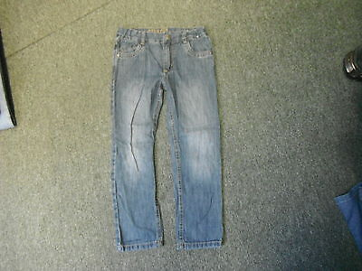 "Denim Co Straight Jeans Waist 24"" Leg 20"" Faded Dark Blue Boys 6/7 Yrs Jeans"