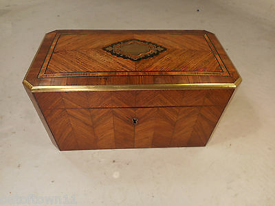 Antique French Kingswood inlaid Tea Caddy   ref 2361