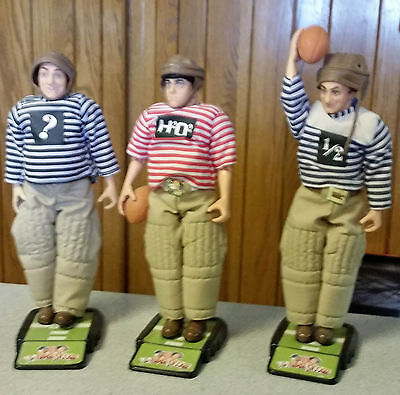 """The Three Stooges Larry, Moe, & Curly Football """"Pigskins"""" episode(3) Figure Lot"""