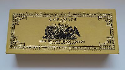 Vtg Original J & P Coats USA Best Six Cord Spool Cotton Box (empty)