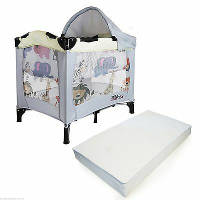 iSafe Mini Travel Cot With Bassinet - Smiley And Cuddly Complete With Mattress