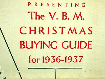Vassie Brock Manchester Christmas Buying Guide 1936-37  Mail Order Catalougue