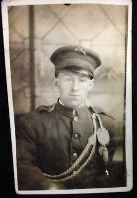 American?? Military WW1 Photo Postcard Soldier Uniform