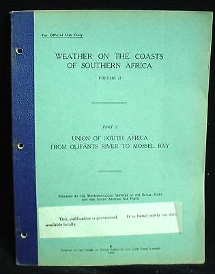 1943 Weather Coasts Southern Africa Olifants River to Mossel Bay African WW2