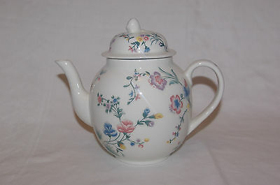 Laura Ashley Chinese Silk 2 Pint Capacity Chintz Teapot 1989 - Pristine