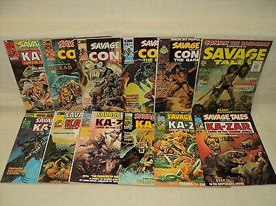 Savage Tales 1-11 + Annual 1 COMPLETE MAGAZINE SET Nice! 1st Man-Thing! (m 336)