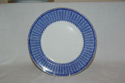 "Antique  George Jones Ironstone 10.25"" Dinner  Plate Cassino Flow Blue & White"