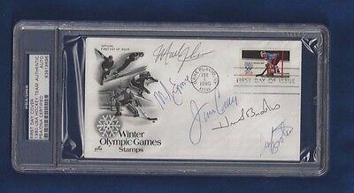 1980 USA Olympic Hockey Autographed First Day Cover PSA SLAB Brooks,Craig (5)
