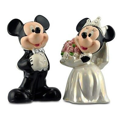 Disney MICKEY & MINNIE MOUSE WEDDING Salt & Pepper Shakers Collectible Figurines