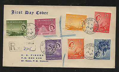 Seychelles  nice registered first day cover   1954           KL0303