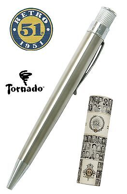 Retro 51 #VRR-1315 / Lacquered Stainless Tornado Pen